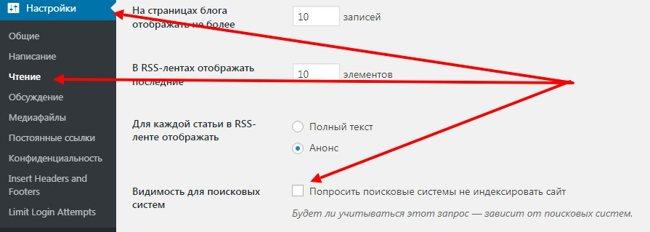 Отметка видимости в поисковых системах