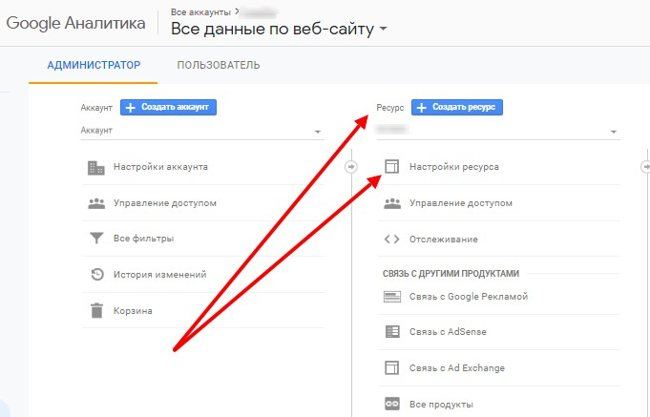 Привязка к Google Аналитика шаг 2