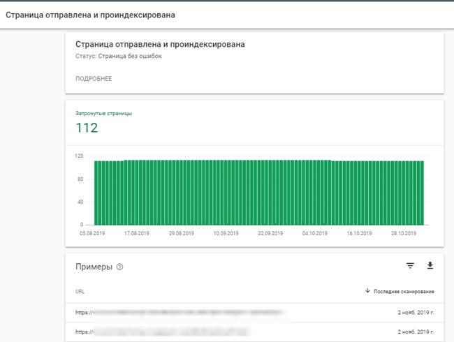 Ппроверка индексации сайта в Google Search Console - Шаг 3