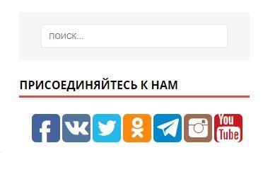 Кнопки подписки на социальные сети