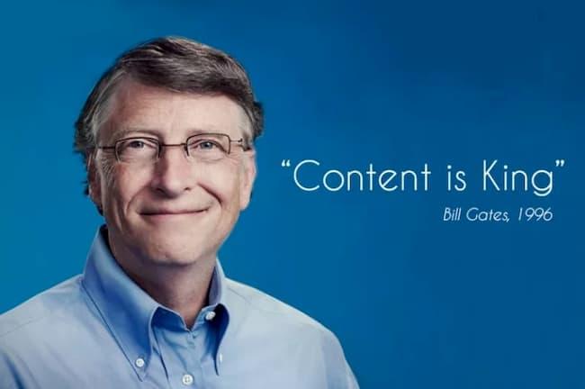 контент - король, известная фраза Билл Гейтса