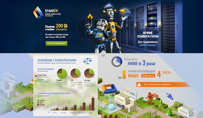 биржа ссылок Trastik.com