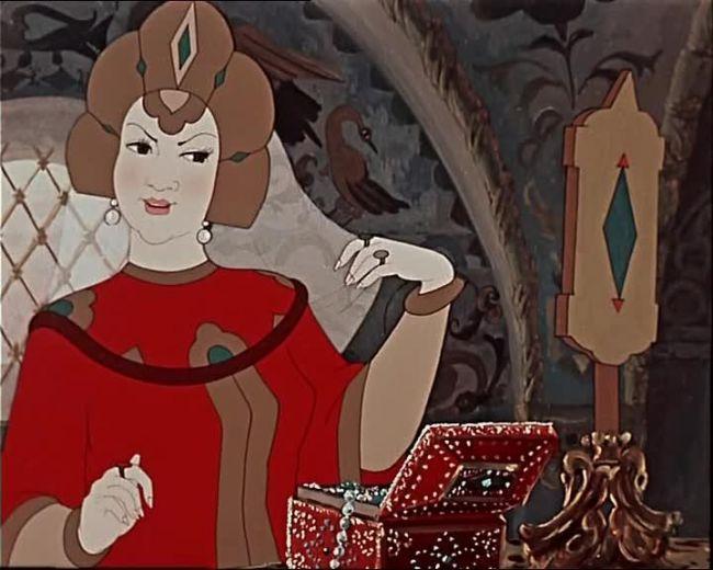 Скриншот из мультфильма по сказке Пушкина