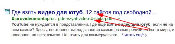 Разница между URL и заголовком в поиске