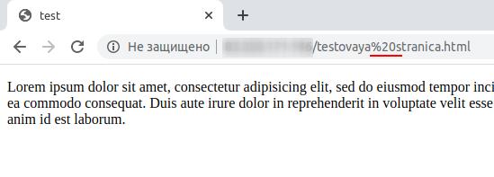 URL адрес с пробелом