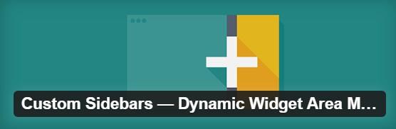 Плагин CUSTOM SIDEBARS – DYNAMIC WIDGET AREA MANAGER