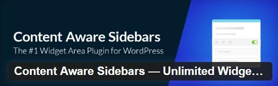 Плагин Content Aware Sidebars – Unlimited Widget Areas