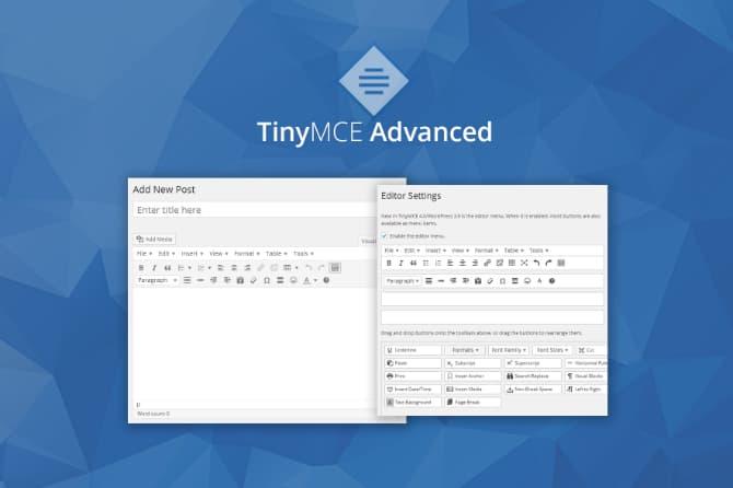 TinyMCE Advanced — расширенный текстовый редактор для WordPress